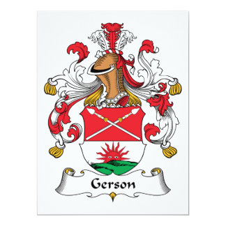 Gerson Family Crest Card