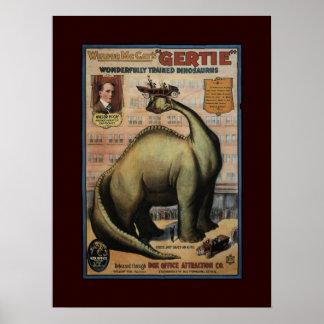 Gertie el dinosaurio póster