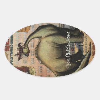 Gertie The Dinosaur Oval Sticker