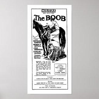 Gertrude Olmstead THE BOOB vintage movie ad print