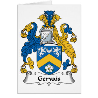 Gervais Family Crest Card