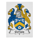 Gervais Family Crest Poster