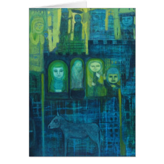 Gest in Green and Blue Hoilday Card