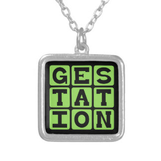 Gestation Process of Being Pregnant Custom Necklace
