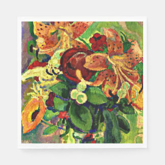 Gestel - Still Life with Tiger Lilies Napkin