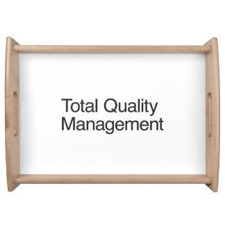 Gestión de calidad total bandeja