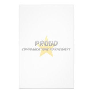Gestión de comunicaciones orgullosa  papeleria