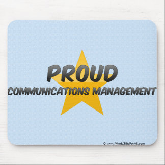 Gestión de comunicaciones orgullosa tapetes de raton