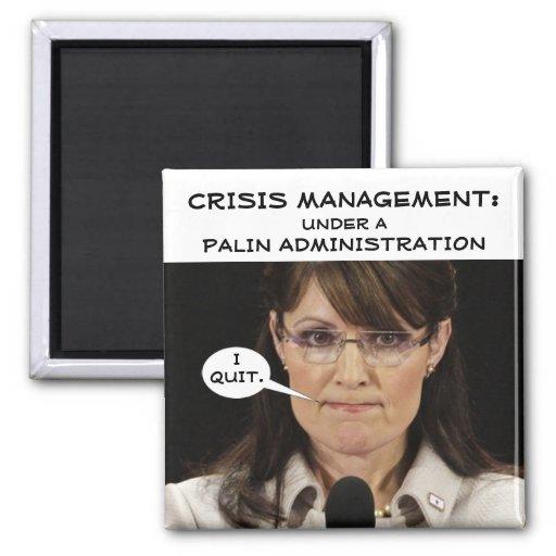 Gestión de crisis bajo administración de Palin Imán Cuadrado