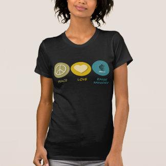 Gestión de gama del amor de la paz camiseta