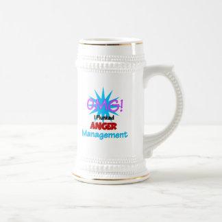 Gestión de la cólera jarra de cerveza