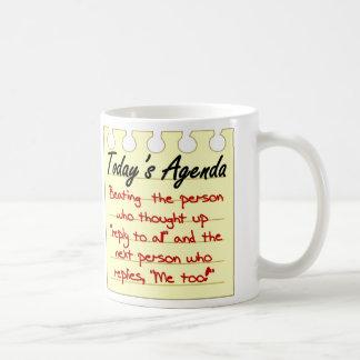 Gestión de tiempo eficiente tazas de café