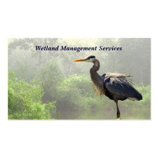 Gestión del humedal tarjetas de visita