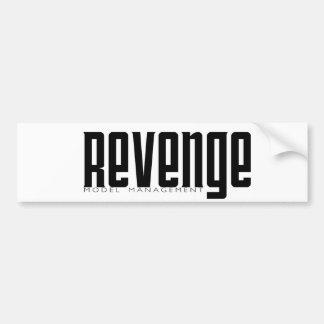 Gestión modelo de la venganza etiqueta de parachoque