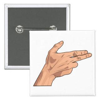 Gesto de la muestra de la mano del tiroteo de la p pin