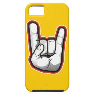 Gesto de mano de los cuernos del diablo iPhone 5 carcasa