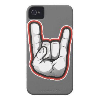 Gesto de mano de los cuernos del diablo Case-Mate iPhone 4 carcasas