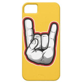 Gesto de mano de los cuernos del diablo iPhone 5 Case-Mate cárcasa