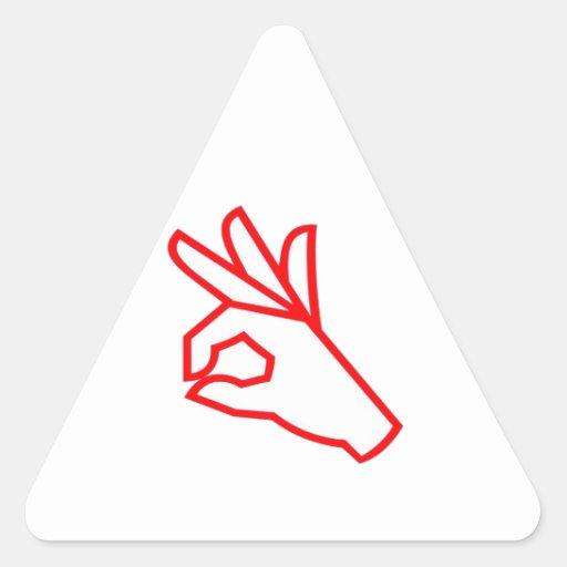 Gesto de mano: Excepcional, excelente Calcomania Trianguladas Personalizadas