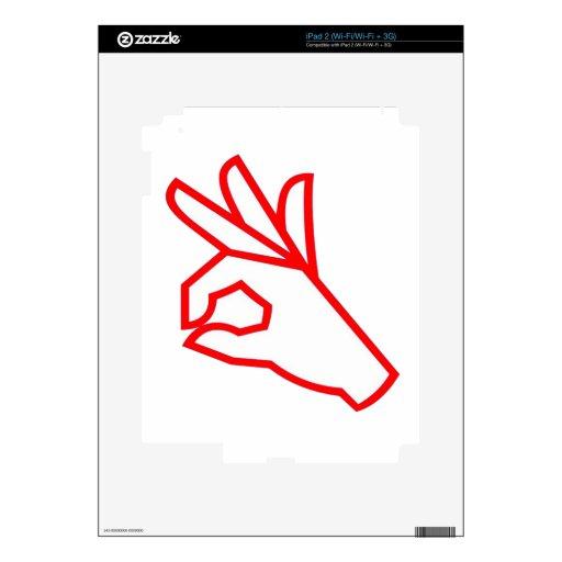 Gesto de mano: Excepcional, excelente Calcomanía Para El iPad 2