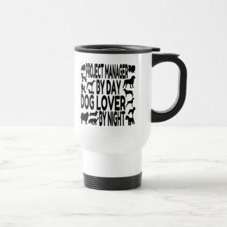 Gestor de proyecto del amante del perro tazas de café