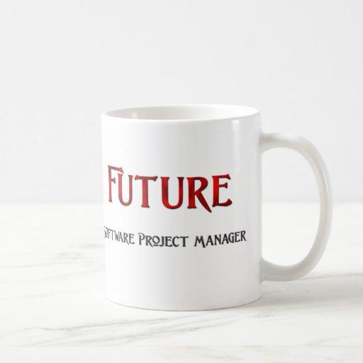 Gestor de proyecto futuro del software taza básica blanca