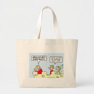 gesundheit king health care universal tote bags