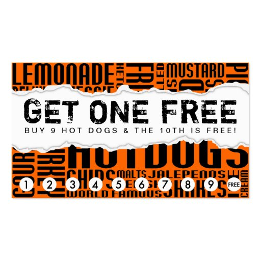 get 1 free HOT DOG Double-Sided Standard Business Cards (Pack Of 100)