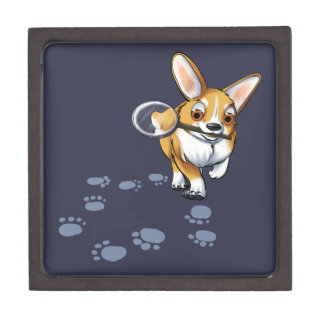 """Get a Clue"" Corgi Jewelry Box"