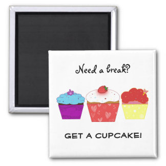 get a cupcake 2 inch square magnet