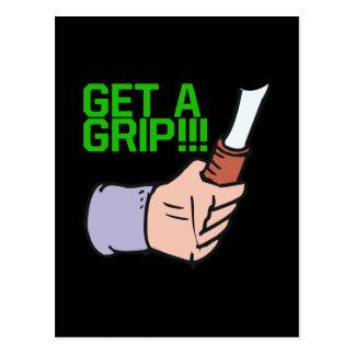 Get A Grip Postcard