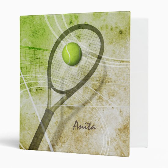 Get a Grip Women's Tennis 3 Ring Binder