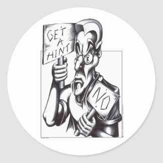 Get a Hint - NO! Classic Round Sticker