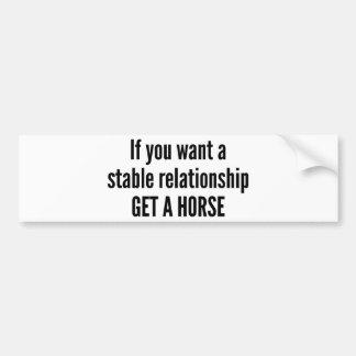 Get A Horse Bumper Sticker