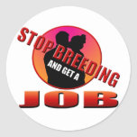 Get a Job Round Stickers
