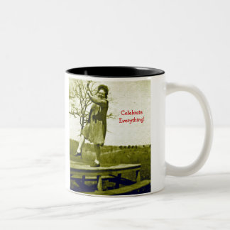 Get a Kick out of Mornings Two-Tone Coffee Mug