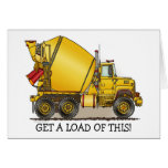 Get A Load Of This Concrete Truck Note Card