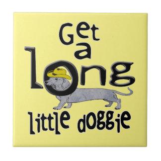 Get a Long Little Doggie Mini Dachshund Dog Ceramic Tile