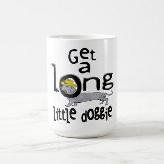 Get a Long Little Doggie Mini Dachshund Dog Coffee Mug