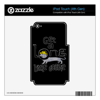 Get a Long Little Doggie Mini Dachshund Dog iPod Touch 4G Decals