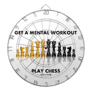 Get A Mental Workout Play Chess (Reflective Chess) Dartboard With Darts
