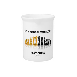 Get A Mental Workout Play Chess (Reflective Chess) Pitcher