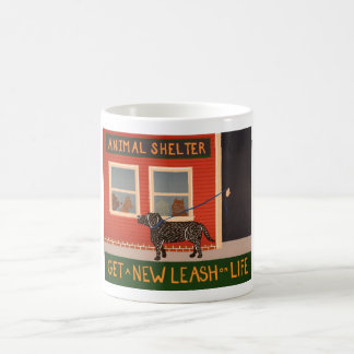 Get a New Leash on Life Classic White Coffee Mug