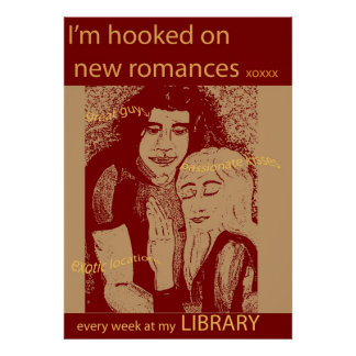 Get a new romance - at your library poster