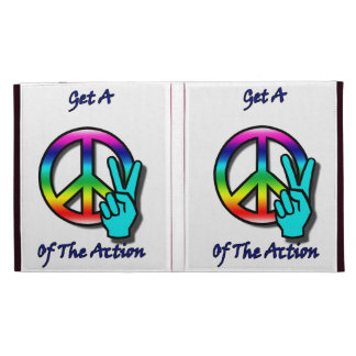 """Get a Piece """"Peace"""" of the Action iPad Folio Cover"""