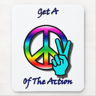 """Get a Piece """"Peace"""" of the Action Mouse Pad"""