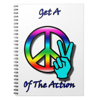 """Get a Piece """"Peace"""" of the Action Note Book"""
