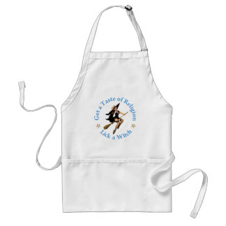 Get a Taste of Religion - Lick a Witch Adult Apron