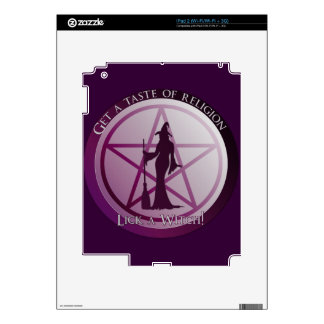 Get a taste of religion. Lick a Witch! Decal For iPad 2