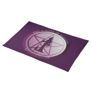 Get a taste of religion. Lick a Witch! Placemat